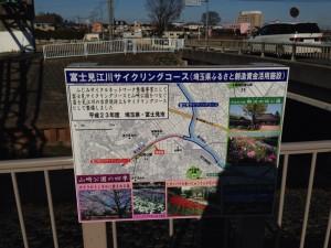 富士見江川サイクリングロード看板