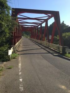 大福山下り途中の橋