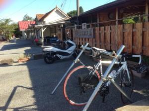 養老渓谷駅の自転車ラック