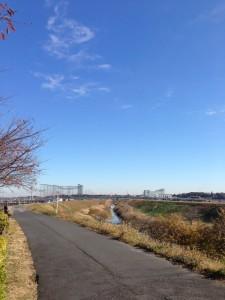 利根運河と江戸川合流地点